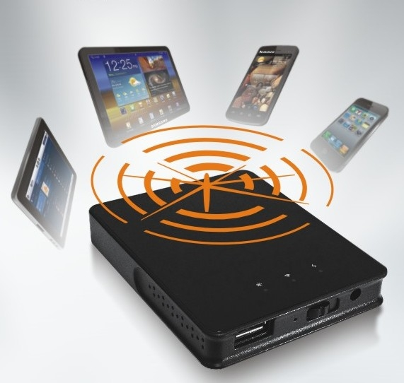 Portable Wireless Streaming To Mobile Devices From USB Storage.