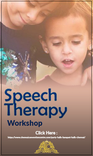 Image of two children on the background with the text on the forefront - Speech Therapy Workshop