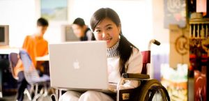 Image Represents Differently Abled Student Written Exams.