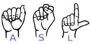Vector Image That Representing The Alphabets A S L Sign Language.
