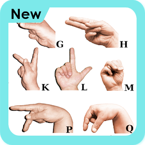 Image Representing Sign Symbols of Alphabets.